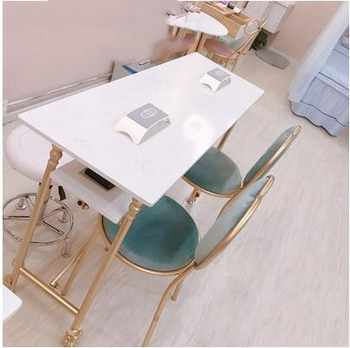 European marble manicure table and chair set single double manicure table double manicure table chair stool - DISCOUNT ITEM  27 OFF Furniture