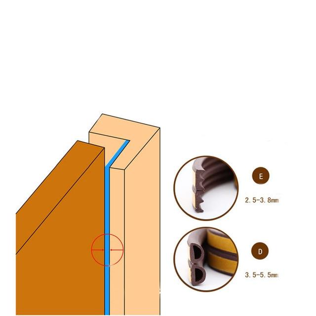 5M Type DIEP Self Adhesive Door Sealing Strips Self Adhesive Window Foam Wind Waterproof Dustproof Sound Insulation Tools|Sealing Strips|   -