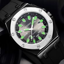 Top Brand ADDIES Luxury Men Sport Watch Silicone Strap Quart