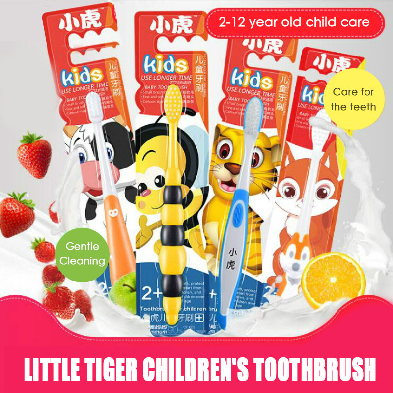 1Pc Children Kids Tooth Cleaning Super soft Bristle Toothbrush Teeth Care guard Tool cartoon Handle Small Brush Head toothbrush image