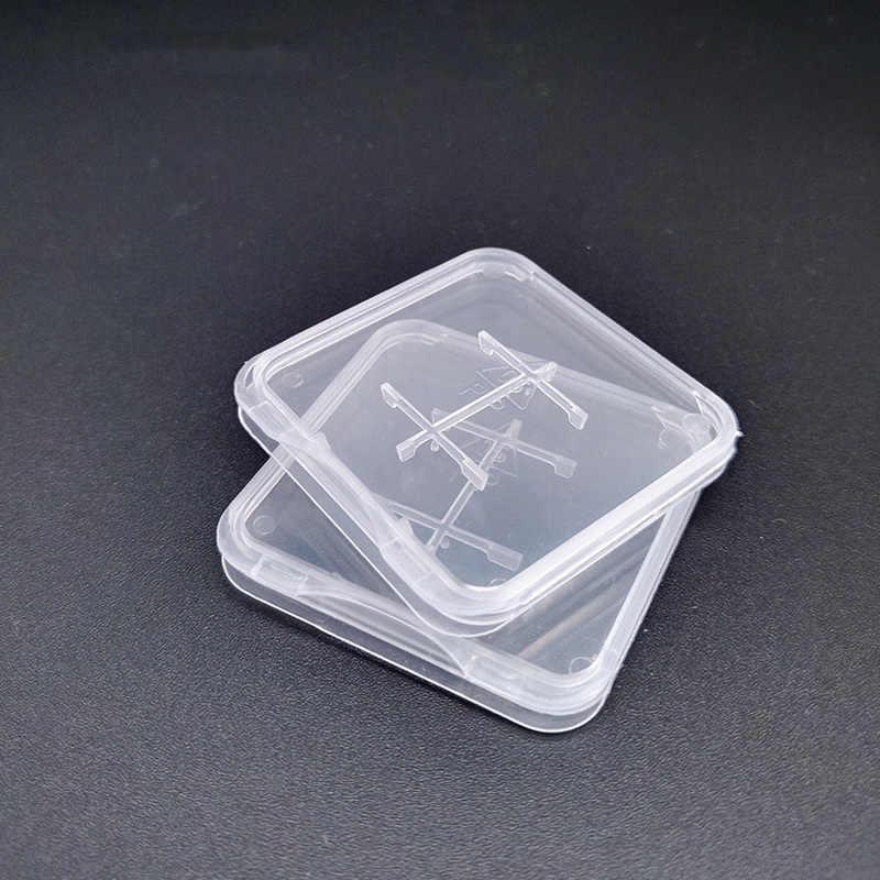 TD SD Speicher Karte Fall Halter Transparent Kunststoff Box Lagerung Halter Speicher Karte Fällen
