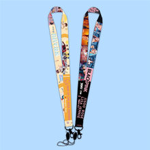 Newest Kpop BLACKPINK Bangtan Boys Bag Key Lanyard Keychain Phone Strap Fans Album Souvenir Neck Rope Jewelry Accessories(China)