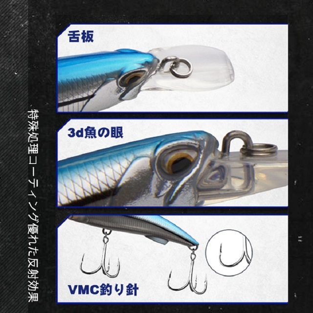 D1 Minnow Heavy Sinking Wobblers Crankbait Fishing Lure 92mm 49g 110mm 60g High Quality Laser Artificial Hard Bait Tackle 2020|Fishing Lures|   -