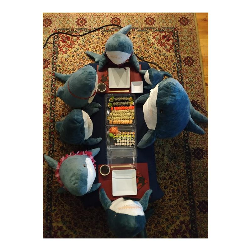 80/100 Cm Ukuran Besar Lucu Lembut Gigitan Hiu Mainan Mewah Bantal Menenangkan Bantal Hadiah untuk Anak-anak