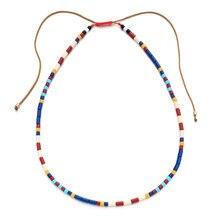 ZMZY Regenbogen Tila Perlen Choker Halsketten für Frauen Mode Chic Boho Einzigartige Design Handgemachte Collier Femme Schmuck Dropshipping