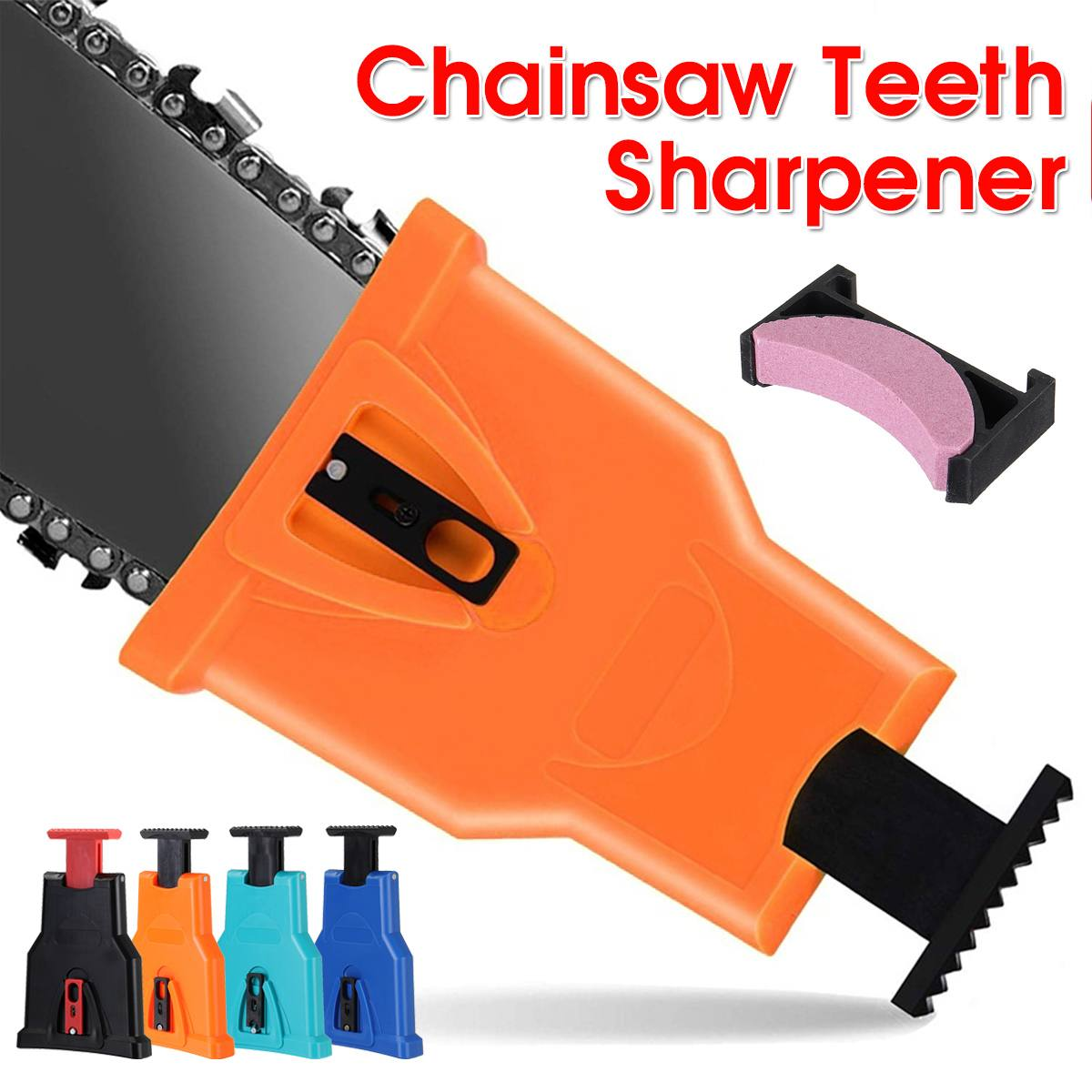 Chainsaw Teeths Sharpener Chain Saw Blade Sharpening Grinder Tool Power Bar Mount Saw Chain Sharpener Woodworking Tools