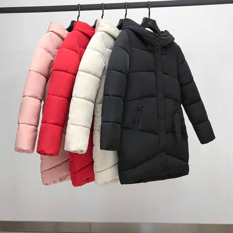 Gorąca sprzedaż 2019 jesień zimy z kapturem dół bawełny kurtka watowana płaszcz, aby utrzymać ciepłe ubrania duże stocznie 809