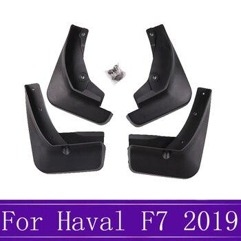 Zwarte Spatlappen Voor Grote Muur Haval F7 2019 Spatlappen Splash Guards Voor Achter Slikranden Spatbord Auto Styling Accessoires
