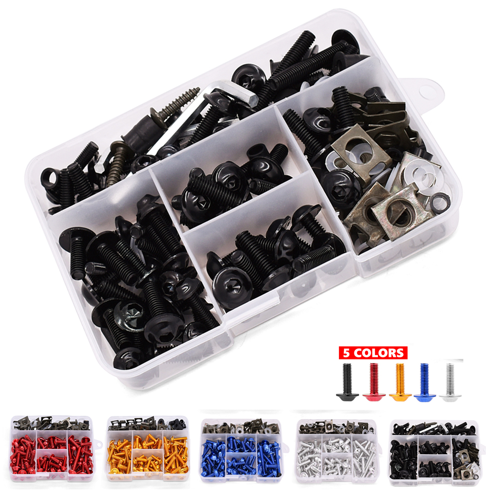 175PCS Motorcycle Fairing Bolts Screw Aluminum Bodywork Screws Nut Kit For <font><b>BMW</b></font> s1000r <font><b>gs</b></font> 1200 F650GS F700GS <font><b>f</b></font> 650 <font><b>700</b></font> <font><b>gs</b></font> f850gs image