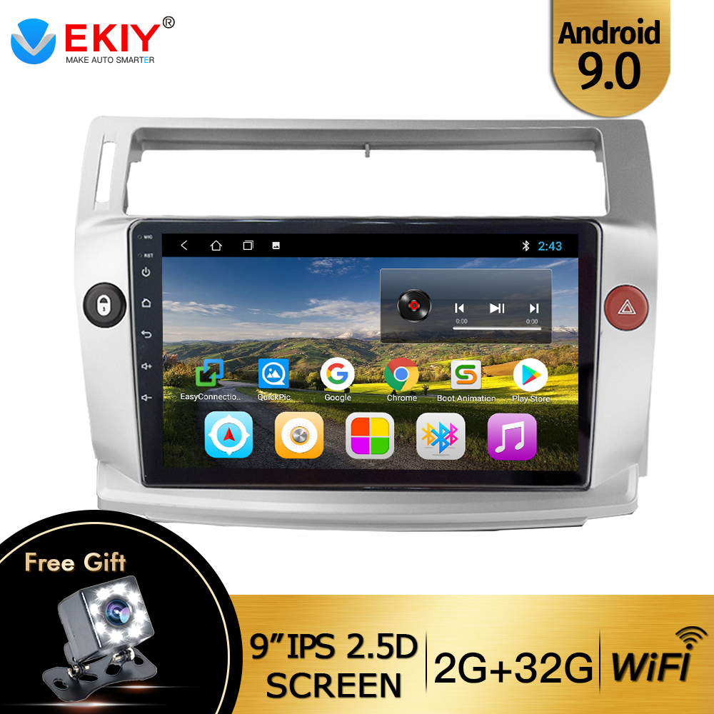 EKIY 9   IPS 2Din Android 9 1 Car Radio For Citroen C4 C-Triomphe C-Quatre 2004-2009 Car Dvd Player Car Multimedia Player