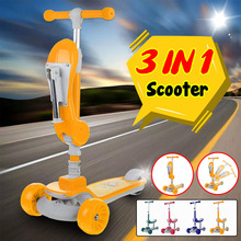 3 Wheels Children's Scooter Adjustable Height Kids Scooter Balance Bike Foldable Scooter