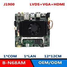 DC12V 1COM 1RJ45 LAN J1900 Nano материнская плата с VGA/HDMI/LVDS
