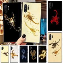 цена на Animal Crab Scorpion Cute Black TPU Soft Rubber Phone Cover For Samsung Galaxy Note3 4 5 7 8 9 10 Pro M10 20 30 A3 2 310 6 7