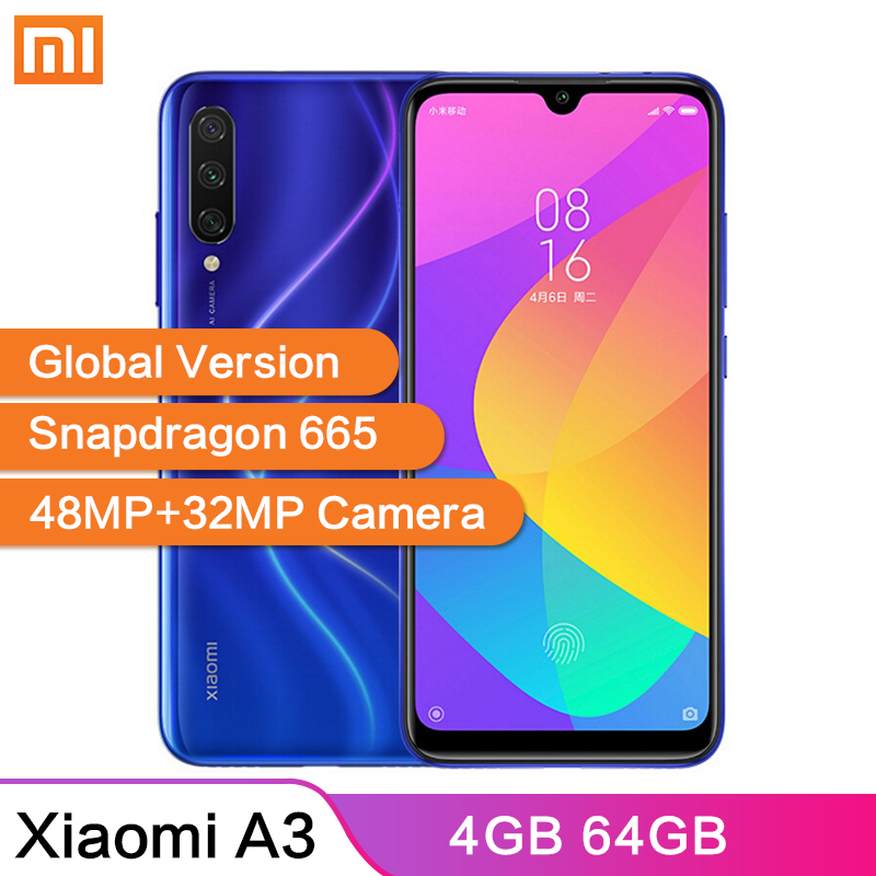 Global Version Xiaomi Mi A3 MiA3 4GB 64GB 48MP+32MP Camera 6.088