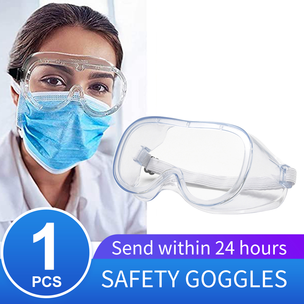 Workplace Medical Face Masks Safety Goggles Eyes Protection Clear Glasses Wind And Dust Anti-virus Anti-fog Protective Glasses