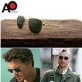 Солнцезащитные очки-авиаторы для мужчин и женщин, винтажные брендовые дизайнерские солнечные очки в американском, армейском стиле, милитар...