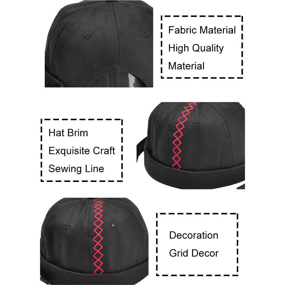 2019 Vintage Hip Hop hombres sombrero lavado algodón Retro cráneo gorra ajustable sin ala casero transpirable Beanie gorro Sailor cap