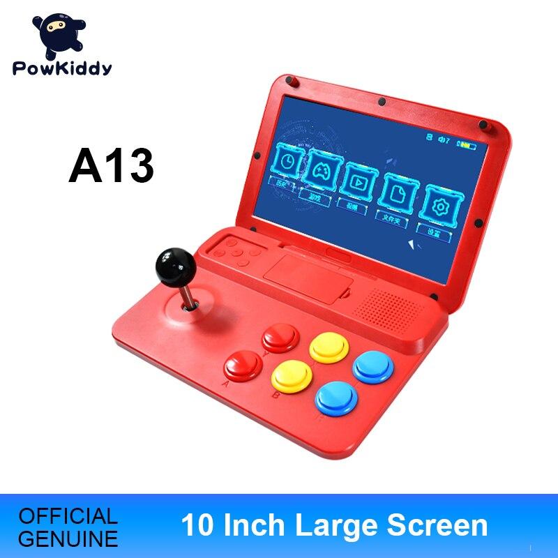POWKIDDY A13 10 дюймов игровой джойстик с двумя джойстиками аркадная A7 архитектура Quad-Core Процессор симулятор игровая консоль чехол для телефона в виде ретро-игровой детский подарок