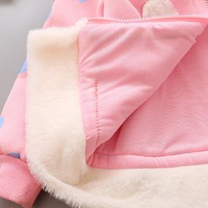 Image 5 - 2020 New Winter Baby Girls Clothes Fleece Coat Pageant Warm Jacket Xmas Clothing 3 6Y Baby Rabbit Ear Hooded Jacket Outerwear