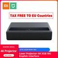Оригинальный Xiaomi Mijia проектор 4K английский интерфейс HD Bluetooth домашний кинотеатр Proyector 3D проектор HDR DOLBY DTS 2 Гб RAM 16G