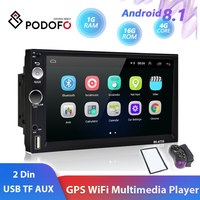 Podofo 2din Car Radio Android 8.1 Car Multimedia Video Player Universal auto Stereo GPS For Volkswagen Nissan Hyundai toyota