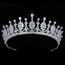 Crown HADIYANA Vintage Women Wedding Hair Jewelry Fashion Party Hair Accessories Top Quality Zircon BC5680 Corona Princesa