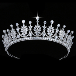 Crown HADIYANA Vintage Women Wedding Hair Jewelry Fashion Party Hair Accessories Top Quality Zircon BC5680 Corona Princesa