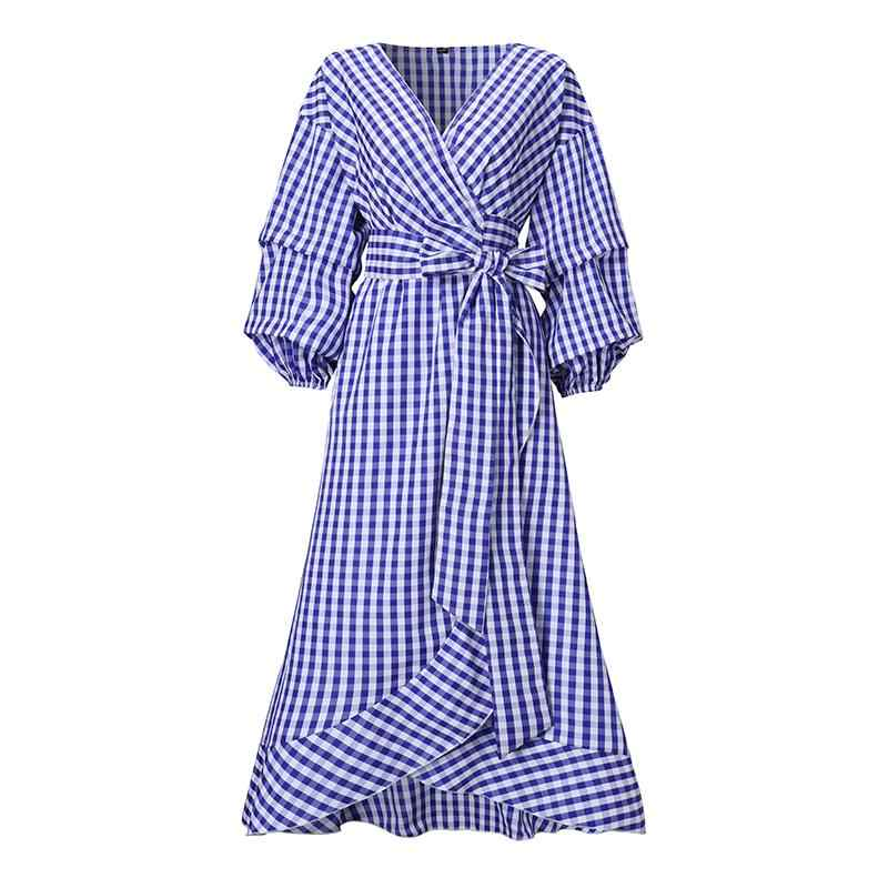 Office Ladies Dress Vintage Dot Printed Dress 2020 Summer Women Casual Loose Beach Party Sundress Plus Size Vestidos S-5XL