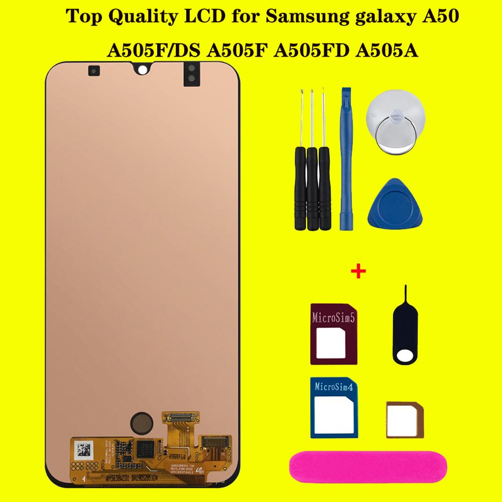 AAA+ OLED For <font><b>Samsung</b></font> Galaxy <font><b>A50</b></font> 2019 SM-A505FN/DS A505F/DS A505 <font><b>LCD</b></font> Display Touch Screen Digitizer replacement For <font><b>A50</b></font> <font><b>lcd</b></font> image