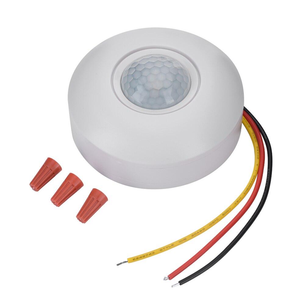 360 инфракрасный PIR датчик движения переключатель с задержкой времени точка всасывания интеллектуальный датчик яркости для светодиодный