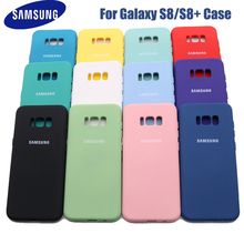 Samsung Galaxy S8 Plus High Quality Liquid Silicone Case Silky Soft Touch Back Cover For Galaxy S 8/S8 Plus/S8+ Phone Shell