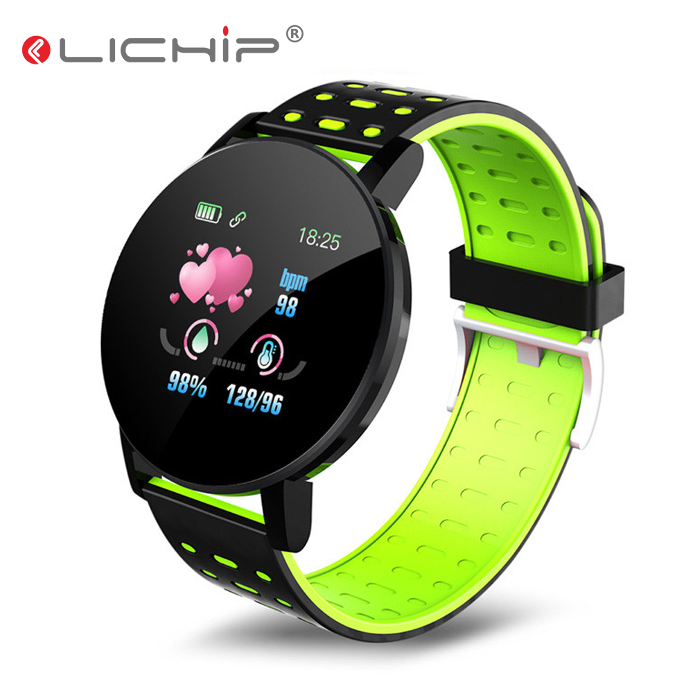 LICHIP Smart Watch Men Women Fitness Tracker Bracelet Band L215 119plus Relogio Reloj Inteligente Smartwatch
