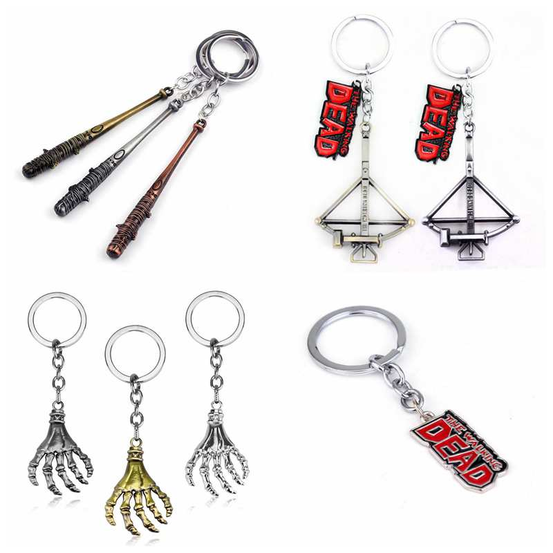 movie-font-b-the-b-font-font-b-walking-b-font-font-b-dead-b-font-keychain-negan's-bat-stick-crossbow-metal-collection-pendant-key-ring-action-toy-figures-for-fans-gift