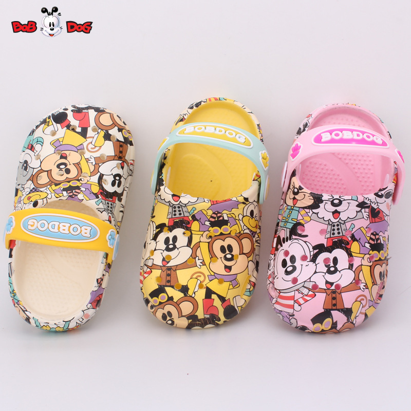Kids Slippers Children Slippers Summer New Fashion Cartoon Prints Boys Girls House Slides Outdoor Anti-skid Beach Slippers Soft