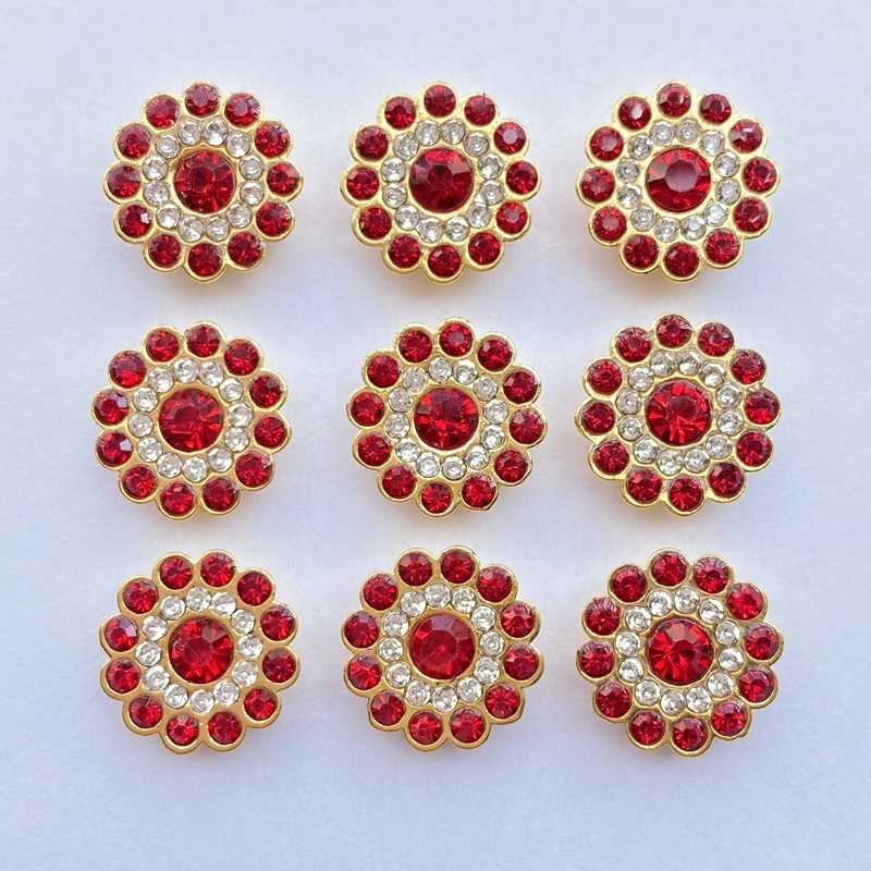 30/50Pcs Mengkilap Manik-manik 13Mm Multicolor Bulat Rhinestone Bezel untuk Scrapbook Kartu Dekorasi Perhiasan DIY Perhiasan Kerajinan Longgar manik-manik F27