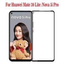 3D Kính Cường Lực Cho Huawei Mate 30 Lite/Mate30 Lite Full Màn Hình Cover Tấm Bảo Vệ Màn Hình Cho Giao Phối 30 lite/Nova 5I Pro