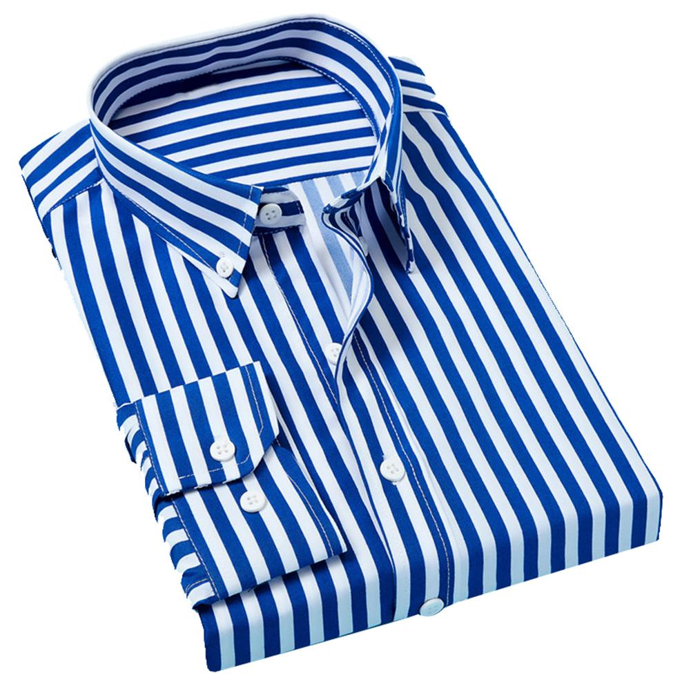 Men Casual Shirt Slim Men Casual Striped Shirt Long Sleeve Formal Dress Shirts Men Male Clothing