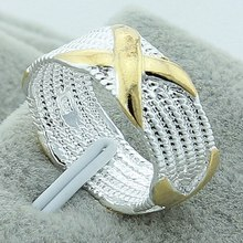 New Arrival Trendy X Rings 925 Silver Wholesale Price High Quality Promotion Wedding Engagement Party Birthday Gift