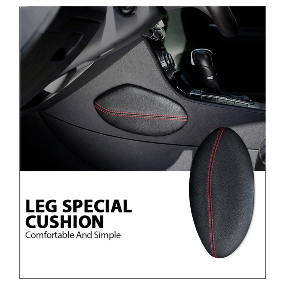 Universal Car Seat Cushion Foot Support Pillow Leather Leg Cushion Knee Pad Interior Car Seats Decorate Protect Accessories