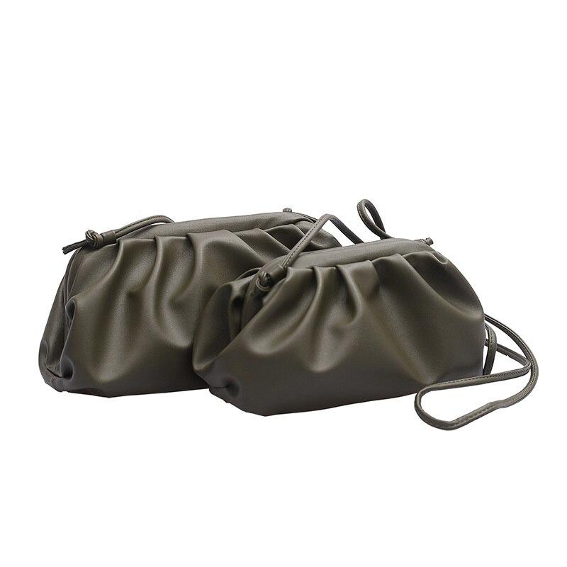 Women Simple Dumplings Messenger Bag Designer Retro 2019 New Fashion Cloud Female Crossbody Shoulder Tide Handbag Clutch