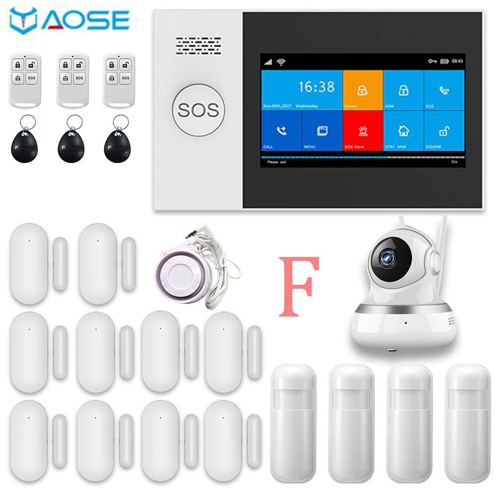 YAOSE PG-107 Wifi Gsm sistema de alarma de seguridad para el hogar App Control remoto sensor de ventana con 1080P Cámara Bluetooth inteligente de alarma Eufy Security, eufyCam 2C 2-Juego de cámara, sistema de seguridad inalámbrico para el hogar con batería de 180 días, compatibilidad HomeKit, 1080p HD