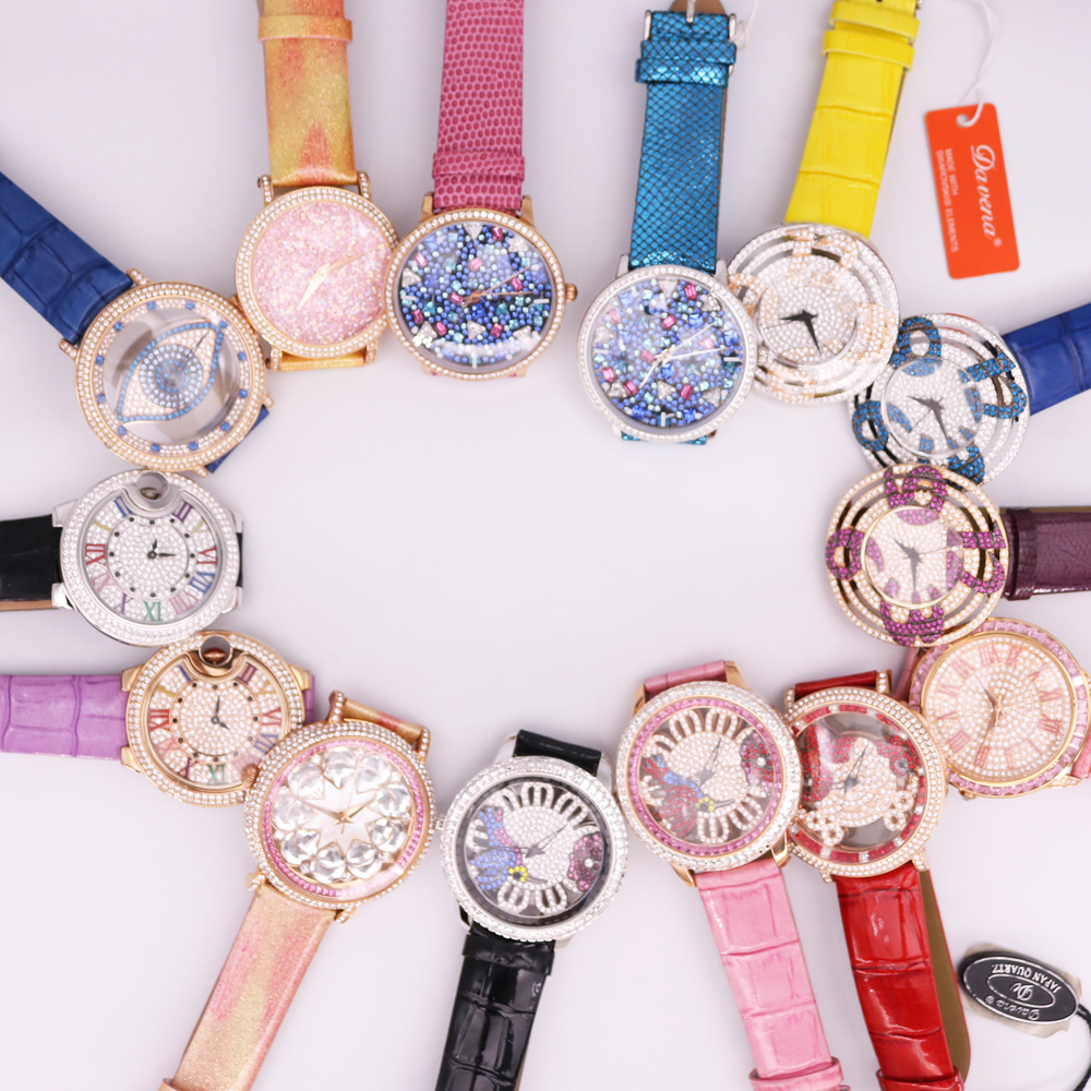 SALE!!! Discount Davena Crystal Old Types Lady Women's Watch Japan Mov't Fashion Hours Bracelet Leather Girl's Gift No Box