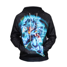 Naruto Dragon Ball Z Hoodies 3D Print Pullover Sportswear Sweatshirt Dragonball Super Saiyan Son Goku Black Men Women