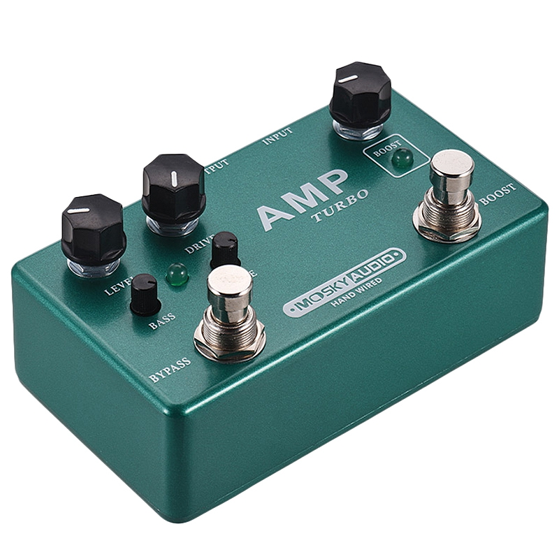 Mosky Amp Turbo Guitar Effect Pedal 2 In 1 Boost Overdrive Effects True Bypass