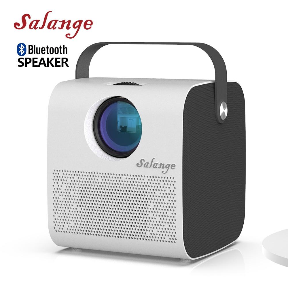 Salange P52 проектор для дома, 1280*720, портативный домашний кинотеатр, 3600 люмен, USB видеопроектор, FULL HD 1080P, поддержка Bluetooth-динамика