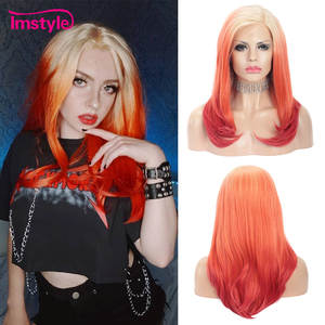 Image 1 - Perruque Lace Front Wig synthétique rouge ombré Imstyle