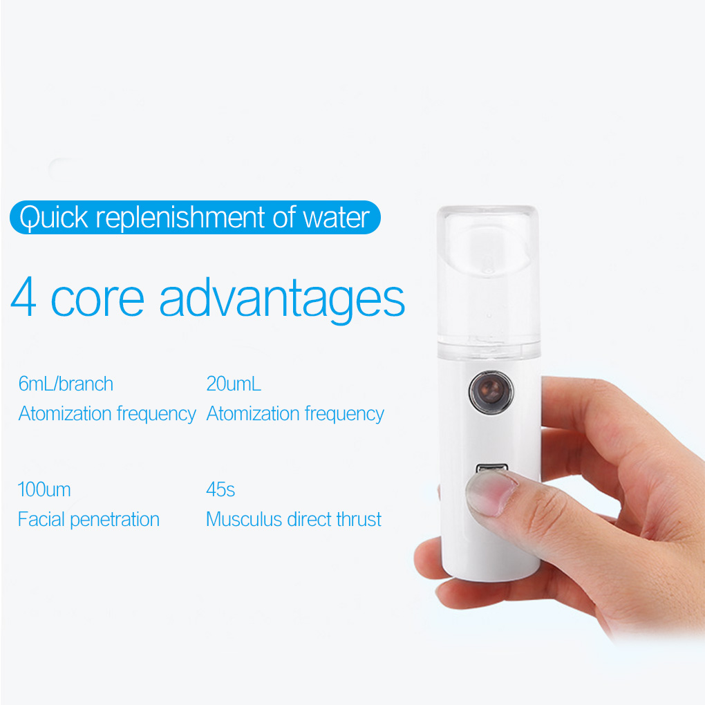 Mini Handheld Face Humidifier 30ml Capacity USB Charging Facial Steamer Spray Water Mist Diffuser Portable Face Humidifier