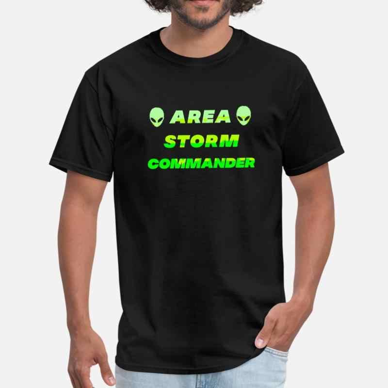 Benutzerdefinierte Bereich Sturm Kommandant Alien Ufo Raum Untertasse T Shirt Mann 2020 Oansatz Sonnenlicht Herren T Shirt Kurzarm Männlichen top Qualität