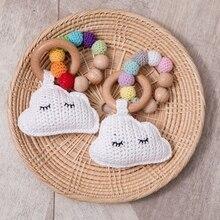 Toy Rattles Educational-Stroller Nursing-Bracelet Crochet-Rinbow Baby Crib-Toy Wooden