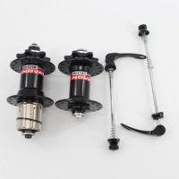 New NOVATEC D041 042SB Mountain bicycle aluminum alloy 6 bearing bike hubs with skewers MTB parts black red color Free shipping